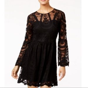 American Rag Embroidered Lace Fit & Flare Dress